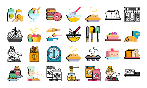 Bakery Icons 2017
