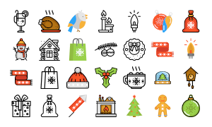 Christmas Icons Design Crawl 2016