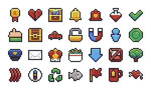 Mario Pixel Icon Collection