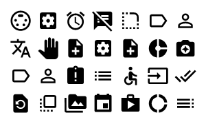 Material Design Icons Master Action