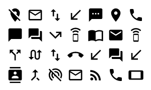 Material Design Icons Master Communication
