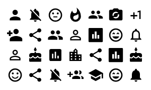 Material Design Icons Master Social
