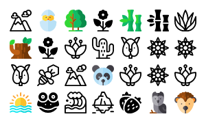 Nature Rounded Icons