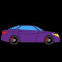 Automobile Car Hatchback Holiday Transport Transportation Travel Icon Cars Pack 01 Filled Outline