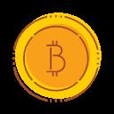 Bitcoin Financial Internet Money Technology Icon Fintech Filled Line