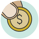 Coin Dollar Finger Hand Payment Shop Icon Shop Payment Vol6