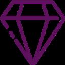 Diamond Icon Web And Mobile Icon Bundle Line