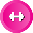 Dumbbell Fitness Gym Health Sports Weight Icon Ios Web User Interface Multi Circle Flat Vol 3