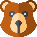 Flat Version Bear Icon Nature Rounded Icons