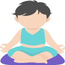 Kid Yoga Icon Yoga Vector Icon Set 244