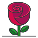 Rose Icon Free Filled Outline Icons