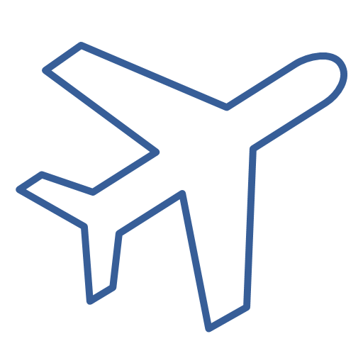 Airport Departure Flight Journey Travel Icon Air Passenger Transportation