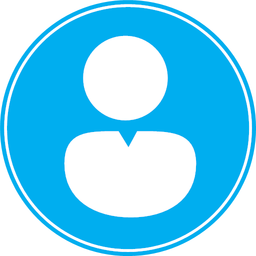 Avatar Human Male Man Men People Person Profile User Users Icon Unique Round Blue Two men with molecule sign on blue background. avatar human male man men people person