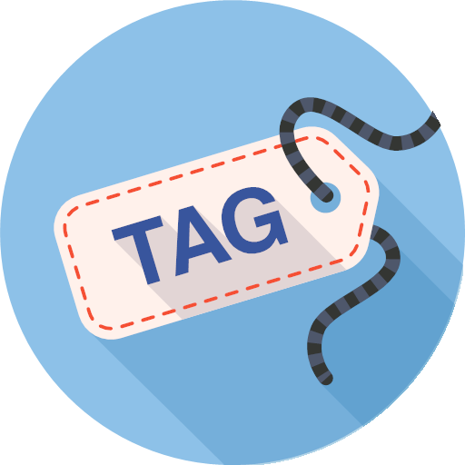 badge, label, tag, icon