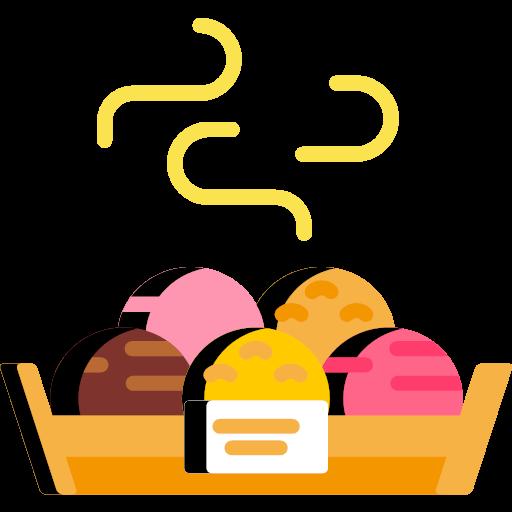 bakery svg flat bread display icon