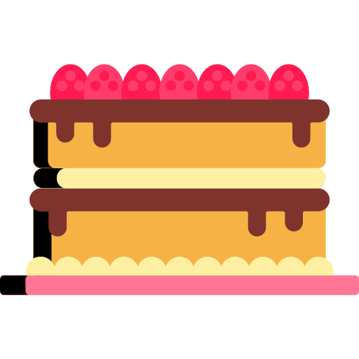 bakery, svg, flat, double, layer, cake, confectionery, bake shop, pastry shop, pâtisserie, empty, horizontal, low, unbroken, even