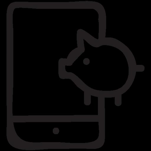 Banker Digitalbanking Ebanking Finance Mobile Online Icon