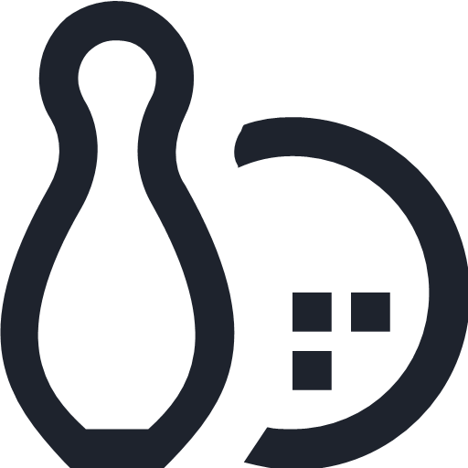 bowling fun game pin strike symbol icon - Line Free | Free icons