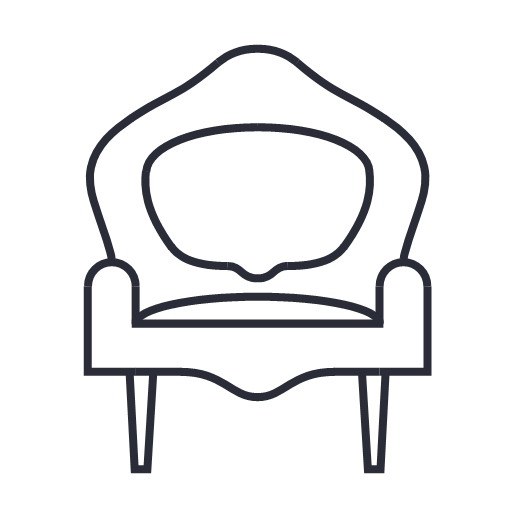 Chair Furniture Interior Sofa Icon