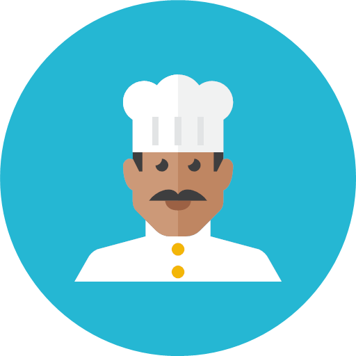 Chef icon - Kameleon Free Pack Rounded