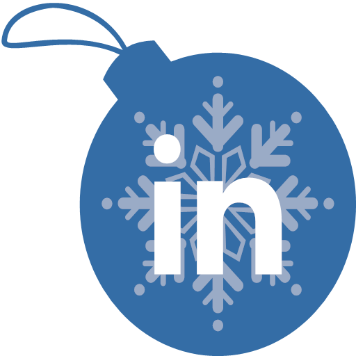 christmas, linkedin, icon