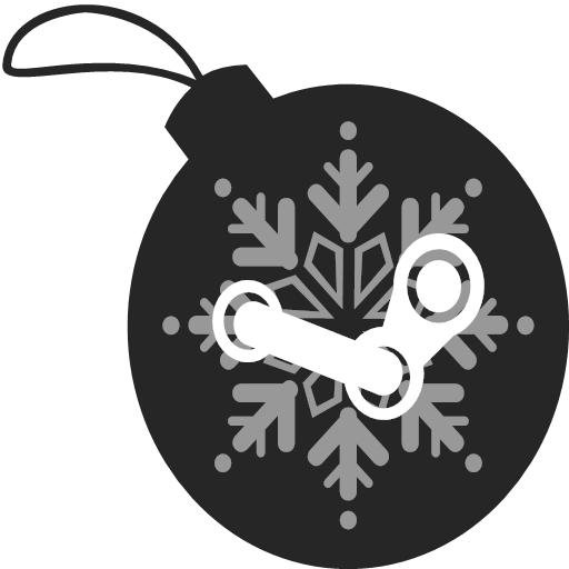 christmas, steam, icon