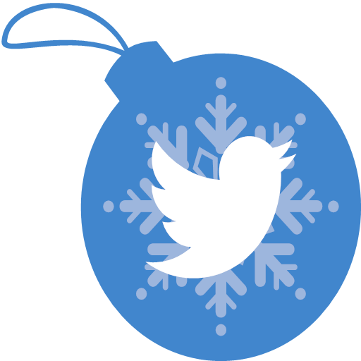 christmas, twitter, icon