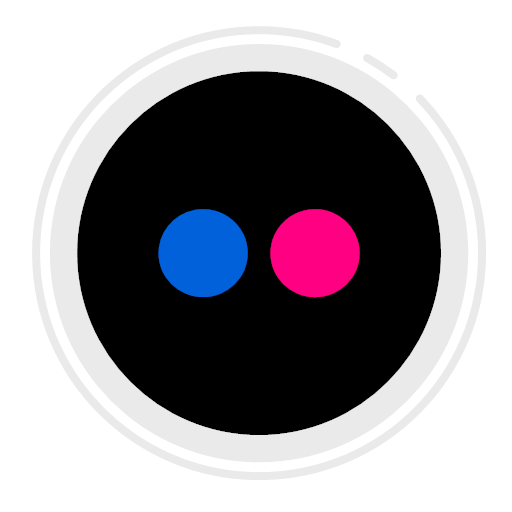 circle, icon, flickr, icon, gradient, icon, social, media, icon, icon