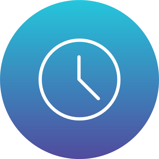 Clock time timer watch icon - Gradient Ui