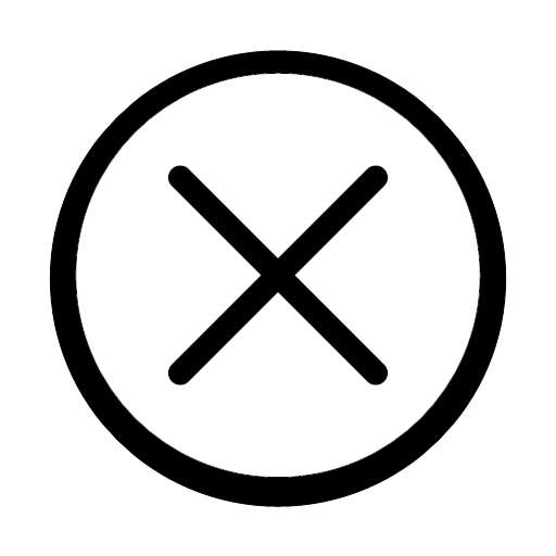 close, cross, delete, exit, remove, trash, icon