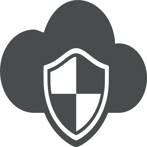 cloud, cloud, computing, defence, protection, safety, shield, icon, darkness, fog, gloom, mist, puff, smog, smoke