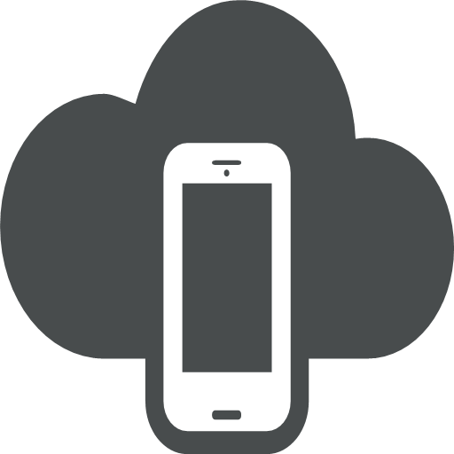 cloud, cloud, computing, device, mobile, phone, smartphone, icon, darkness, fog, gloom, mist, puff, smog, smoke