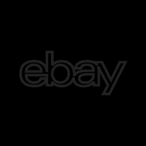 Company Ebay Internet Online Web Website Icon Social Media Logos I Linear Black