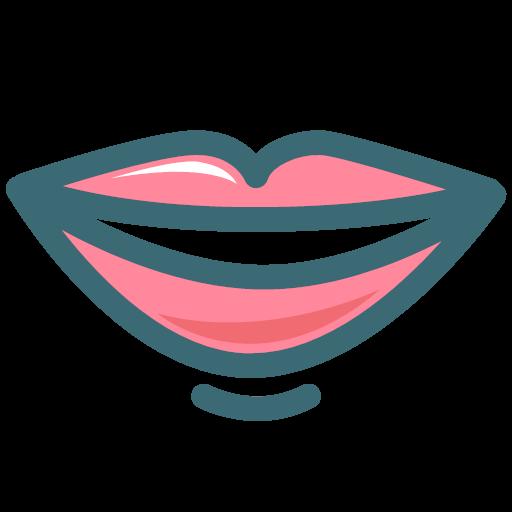 Dentist Dentistry Lip Mouth Smile Tooth Icon Dental Premium Color Symbol