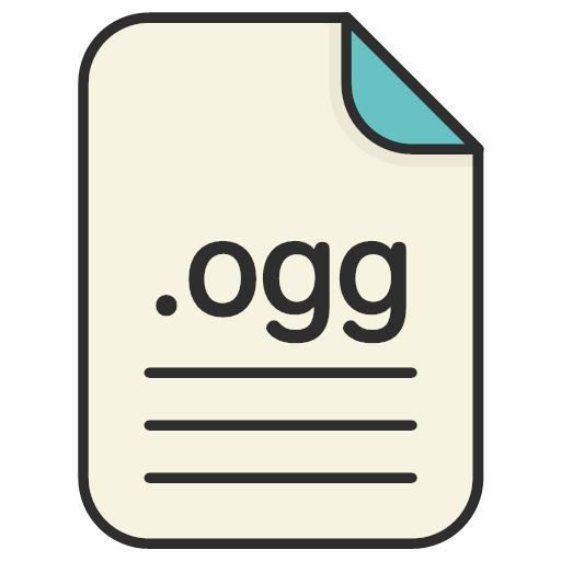 document extension file format ogg icon