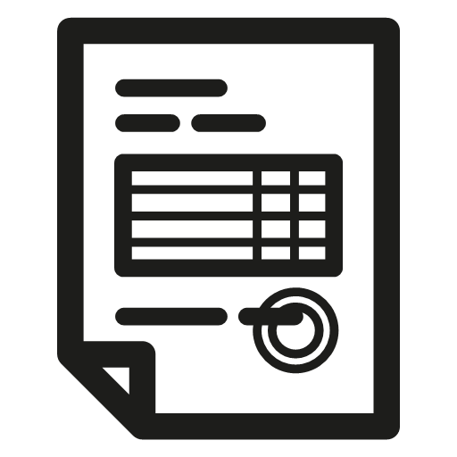 Document Invoice Icon Elasto Ecommerce