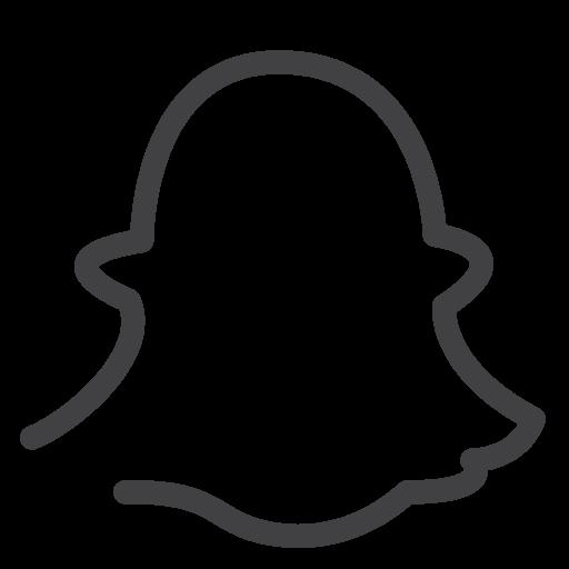 Drawn Line Sketch Snapchat Social Media Icon Line Drawn Social Media