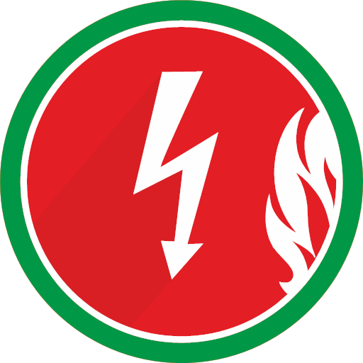 electricity fire flame lightning spark icon