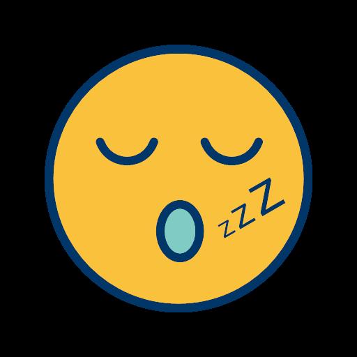 face sleep smiley icon