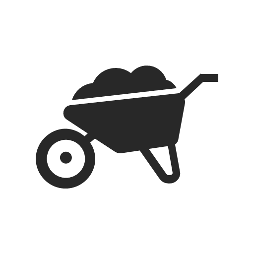 farming, flower, garden, nature, plant, wheelbarrow, icon
