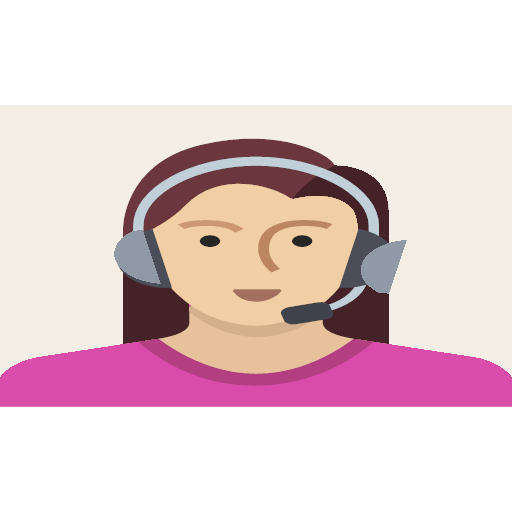 female, headset, person, support, user, woman, icon