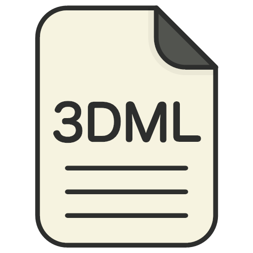 file, file, 3d, file, 3dml, format, type, icon, book, case, data, directory, dossier, folder, information