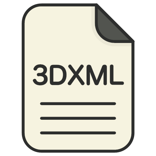 file, file, 3d, file, 3dxml, format, type, icon, book, case, data, directory, dossier, folder, information