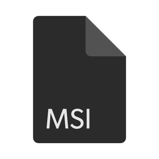 file, format, msi, icon