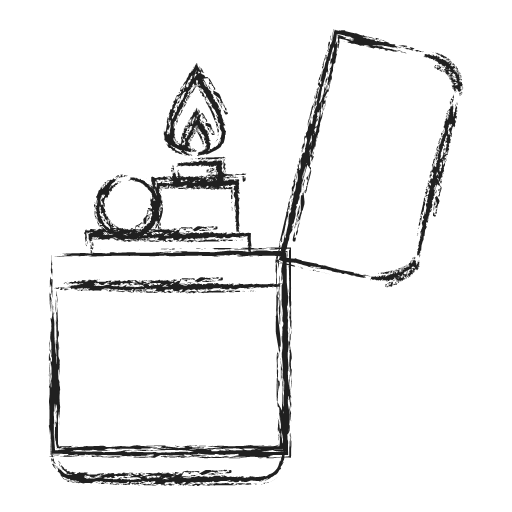 Fire Lighter Icon Camping