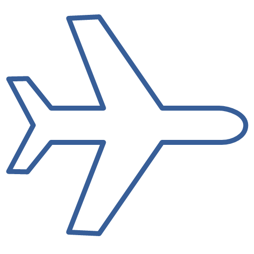Flight Journey One Plane Transportation Way Icon Air Passenger Transportation
