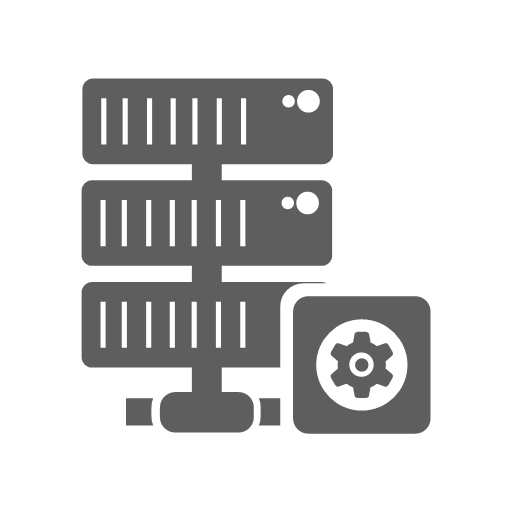 Gear hosting network server setting icon - Database Management