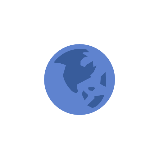 Globe notification world map icon - Facebook Ui Flat