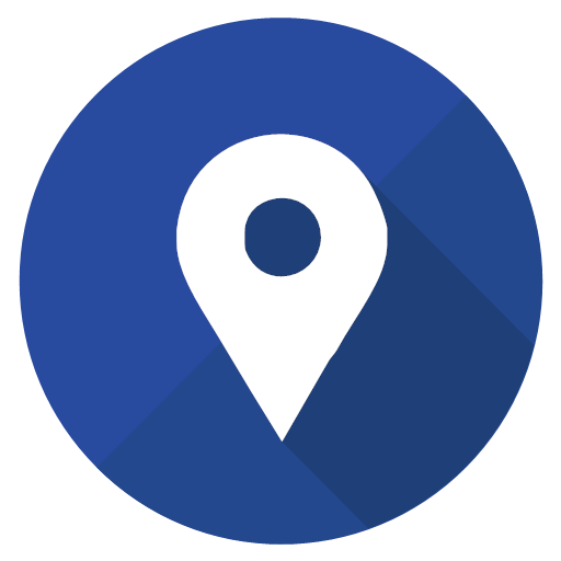 Google Map Map Pin Pointer Icon Intercircles Social Media Interaction Circles