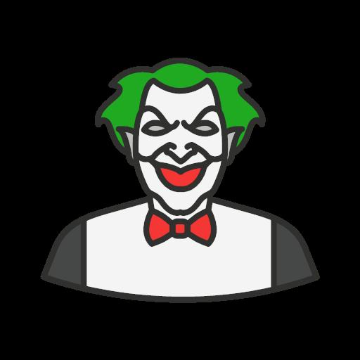 Halloween Joker Card.Halloween Joker Killer Icon